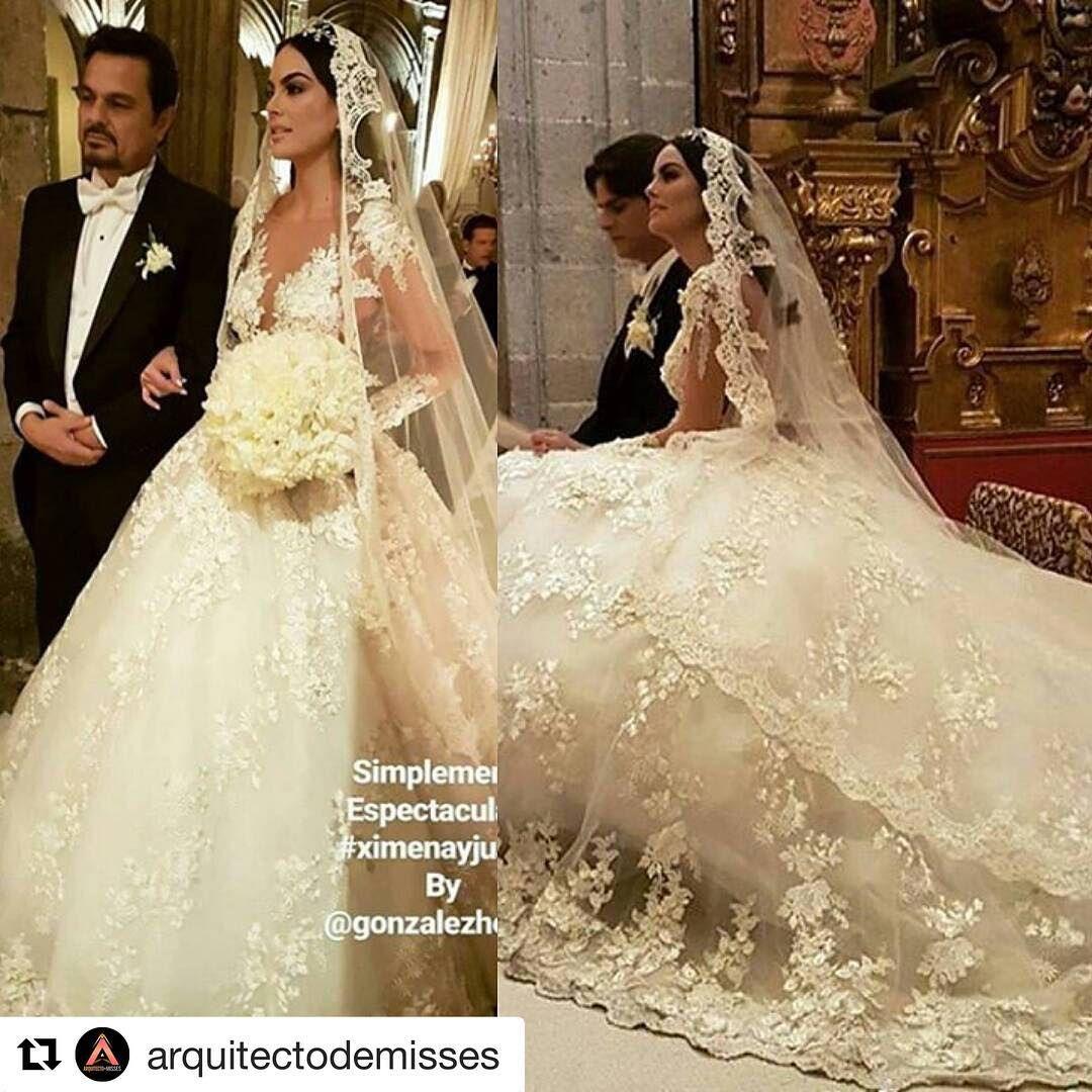 Imagen del vestido de novia de ximena navarrete