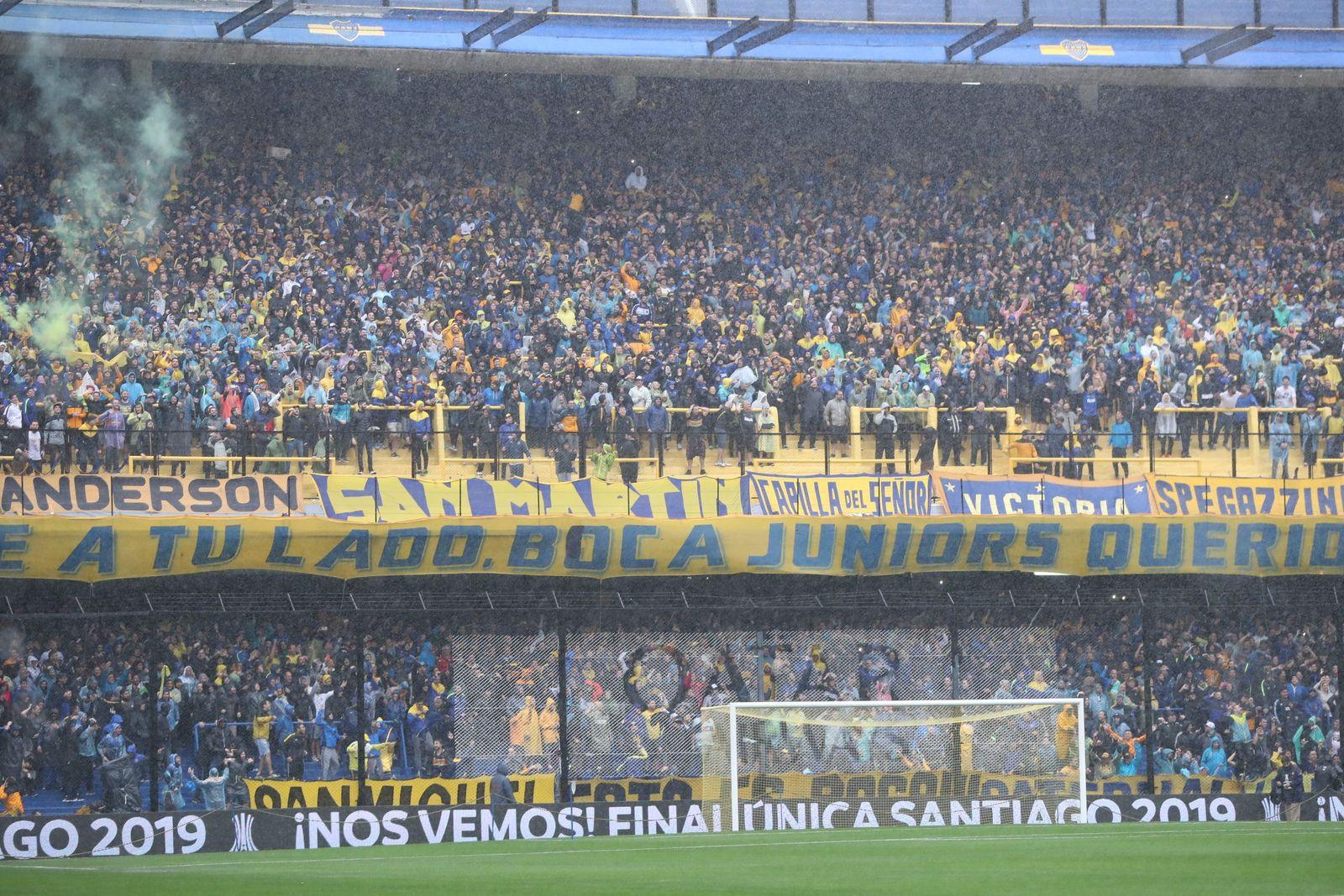 La 12, barra brava de Boca Juniors en la Bombonera.