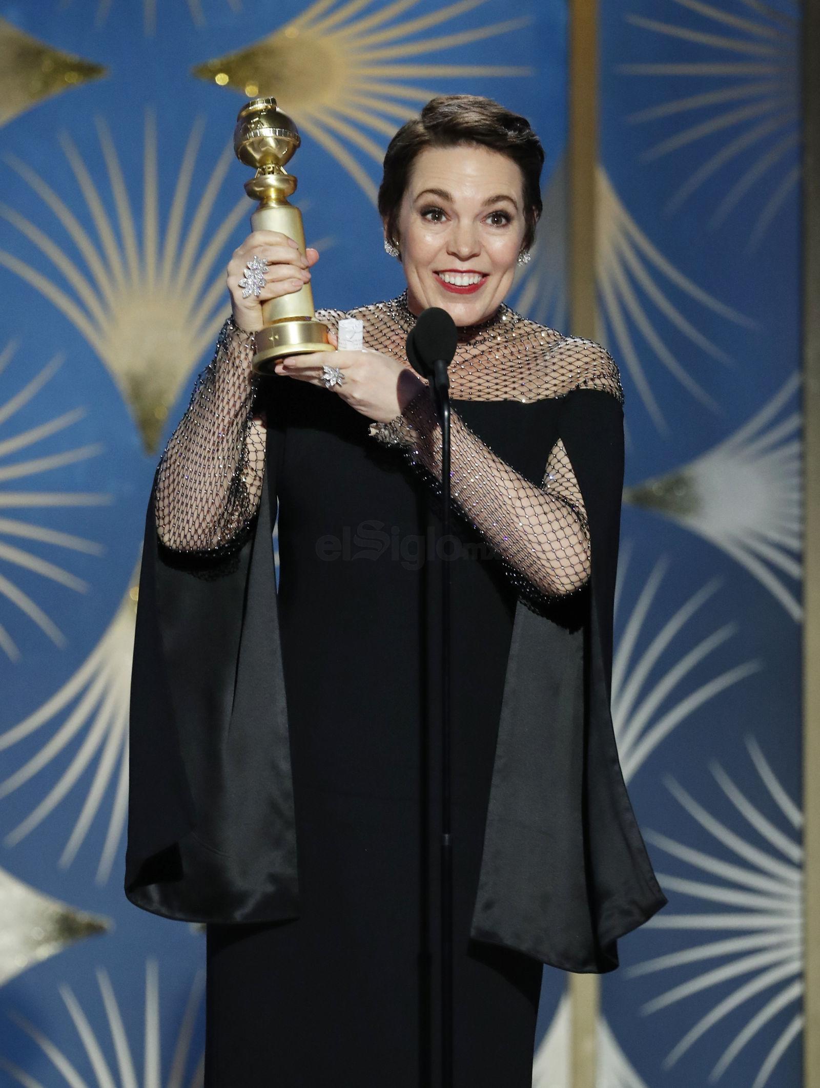 """El Globo de Oro de Mejor actriz de una película de comedia o musical lo consiguió Olivia Colman por """"The Favourite""""."""
