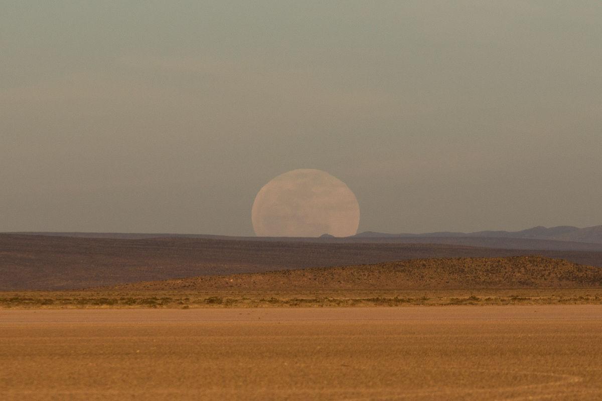 Vista de la Luna previo al eclipse.