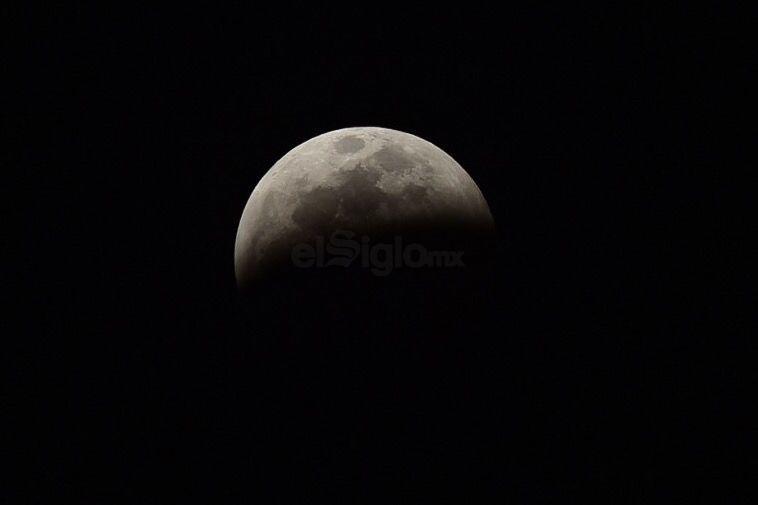 Así lució el eclipse después de las 22:00 horas.