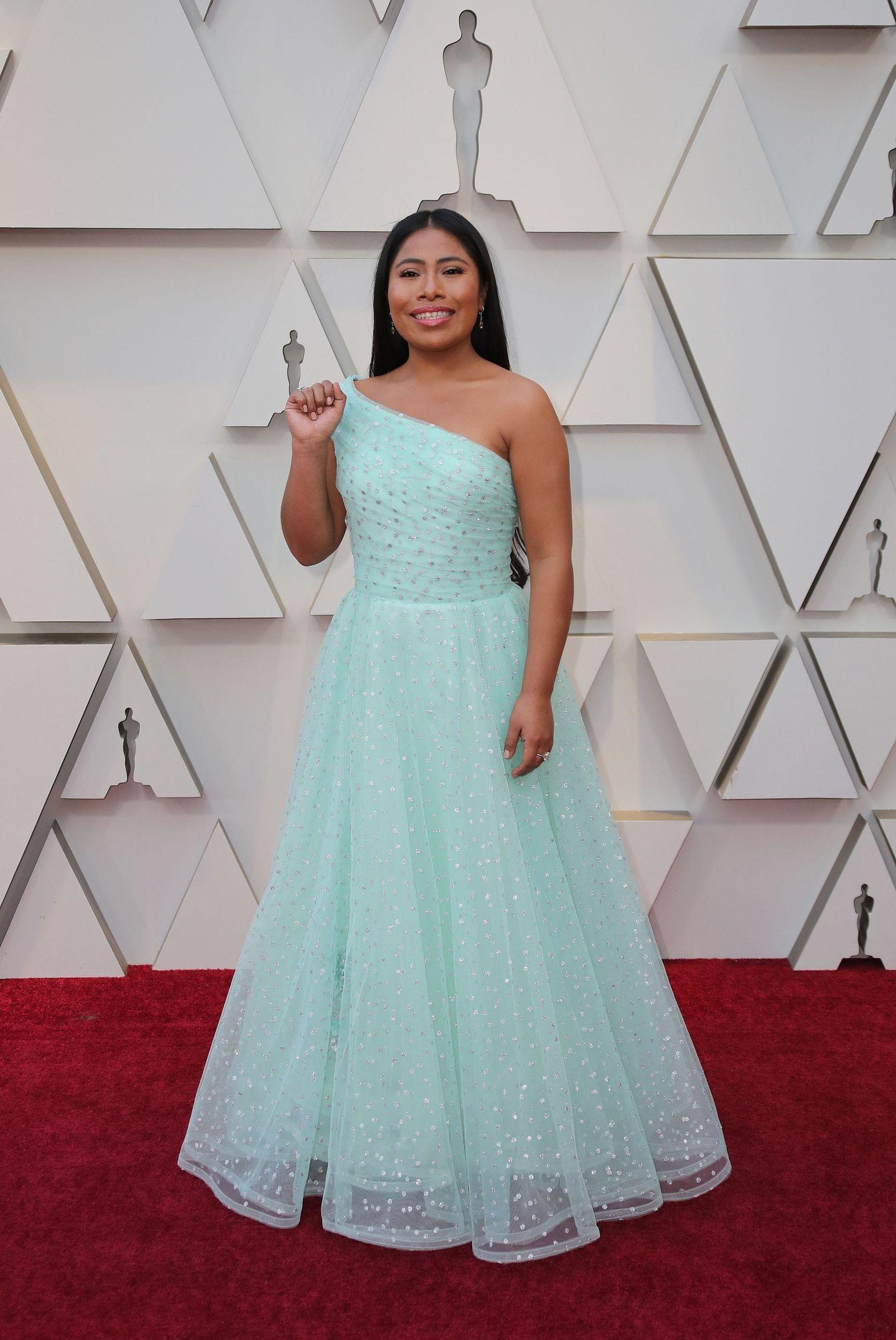 La actriz mexicana Yalitza Aparicio .