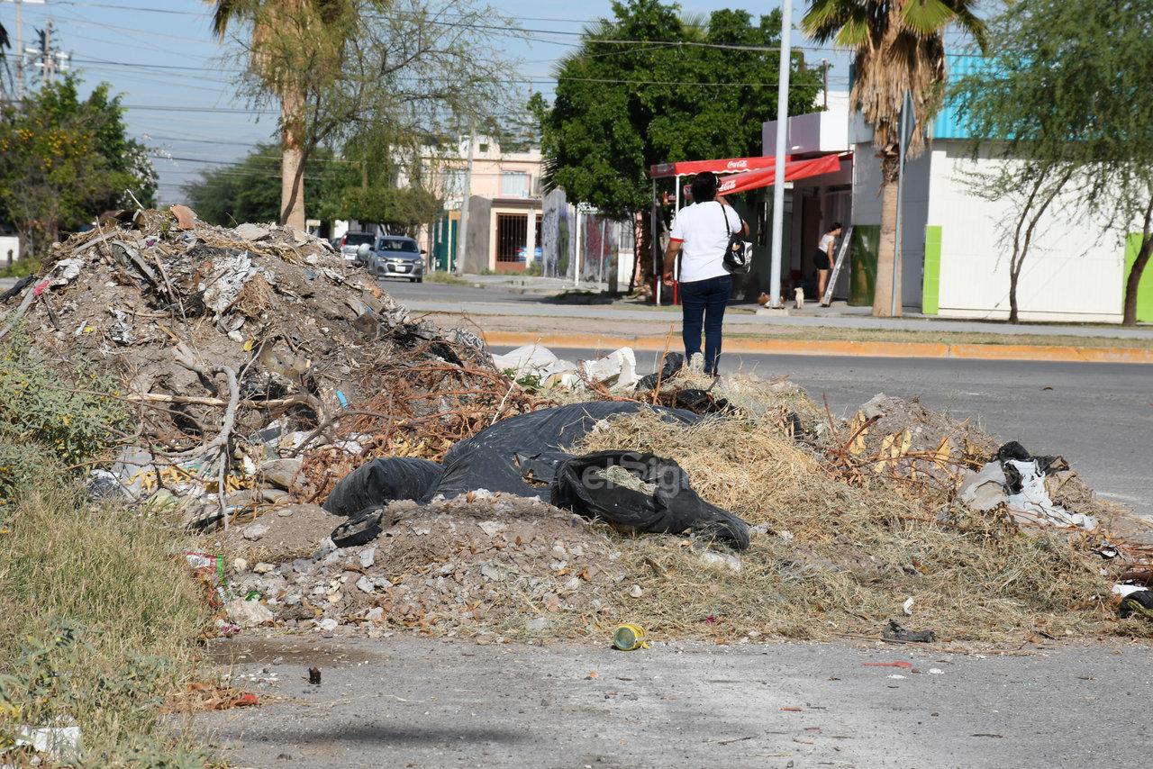 Montones. En el recorrido que se hizo se observaron al menos 10 montones de basura, escombro y ramas, incluso en calles muy transitadas.