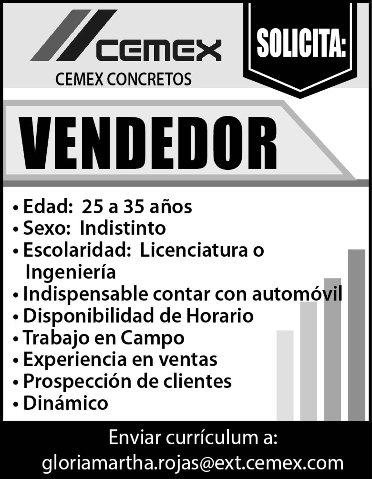 EMPLEO: VACANTE - Torreón desplegados El Siglo