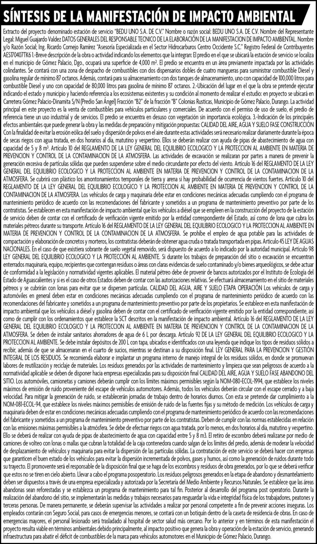 SINTESIS MANIFESTACION DE IMPACTO AMBIENTAL