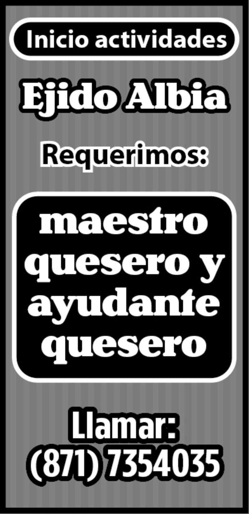 MAESTRO QUESERO
