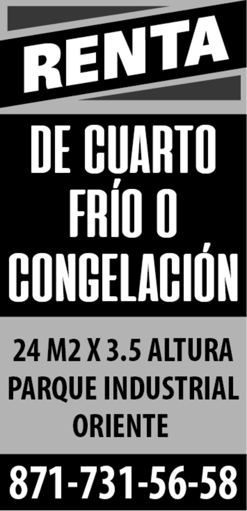RENTA DE CUARTO FRIO