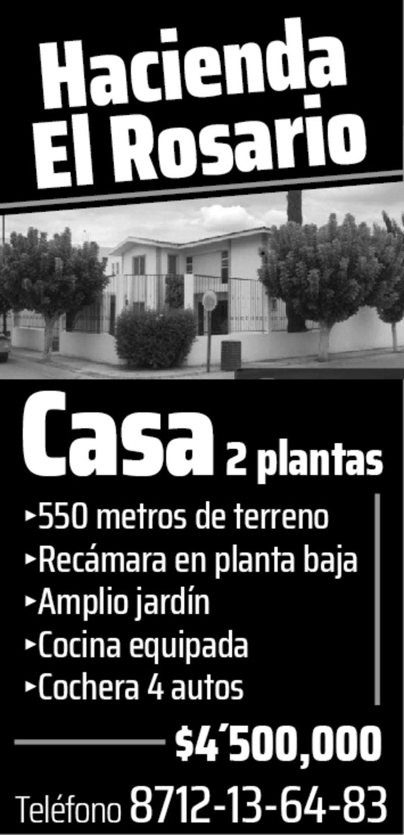 VENTA CASA HACIENDA EL ROSARIO