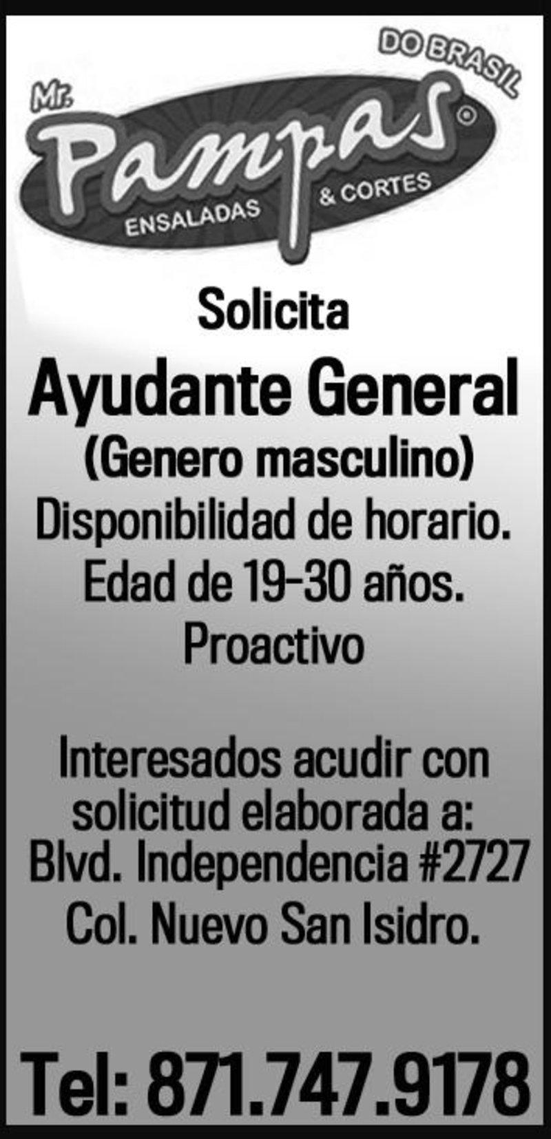 ayudante general