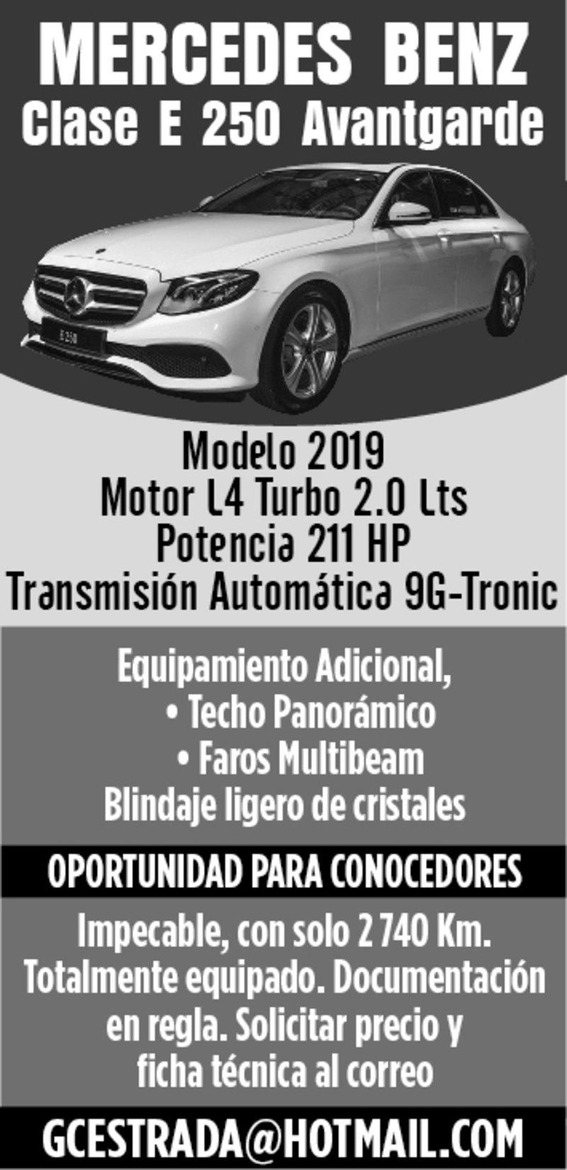 MERCEDES BENZ Clase E 250 Avantgarde