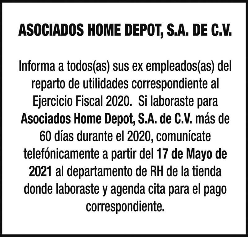 IMPAR / HOME DEPORT/UTILIDADES
