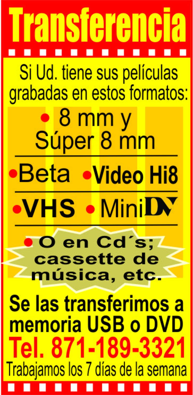 TRANSFERENCIAS VHS