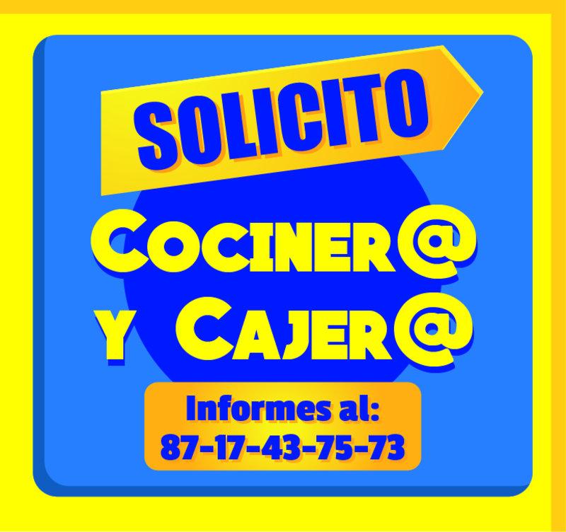 SOLICITO COCINEROS