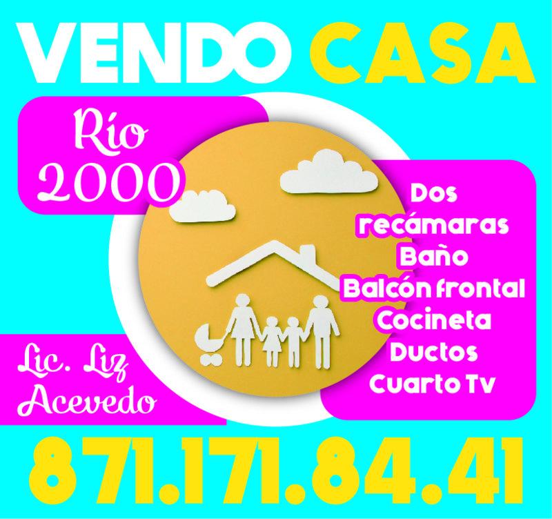 VENDO CASA RIO 2000