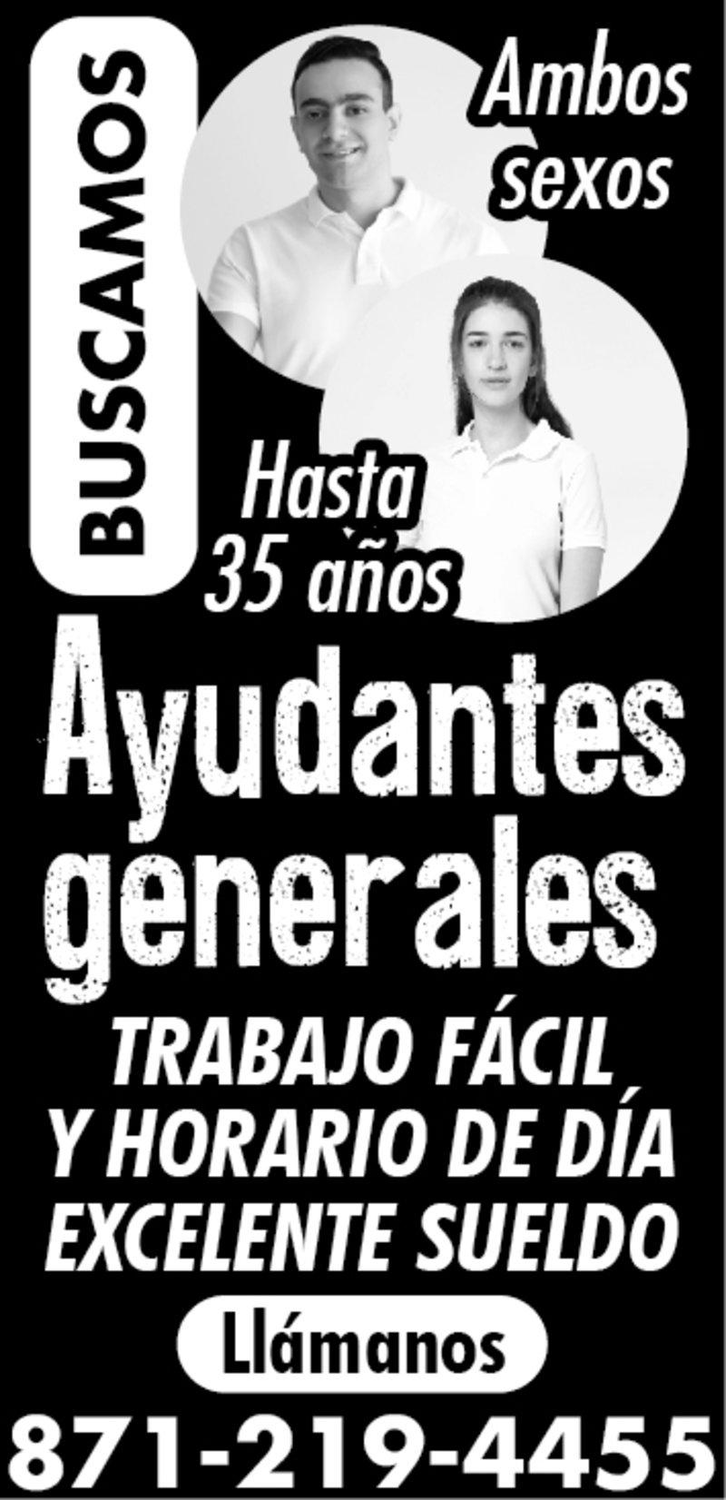 BUSCAMOS AYUDANTE GENERALES