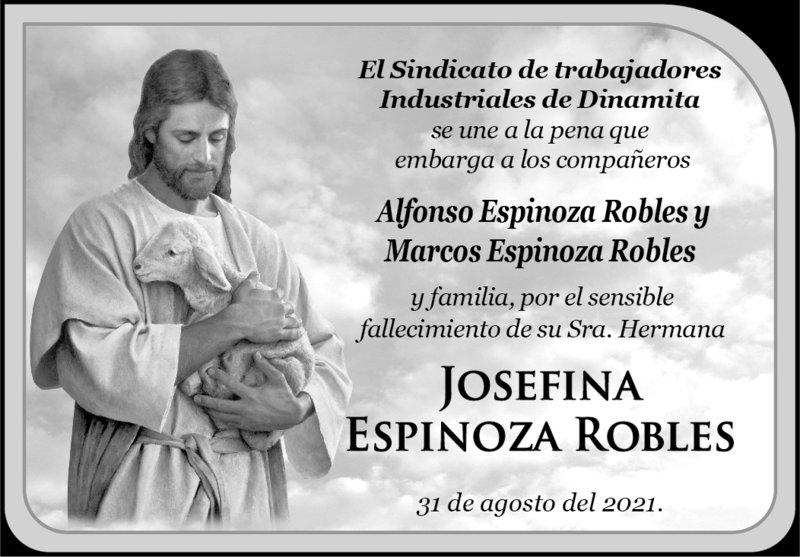 CONDOLENCIA. El sindicato de trabajadores industriales de Dinamita, Dgo. expresan su más sentido pésame a la familia Esparza Canales por el fallecimiento de su señora esposa. Descanse en paz.