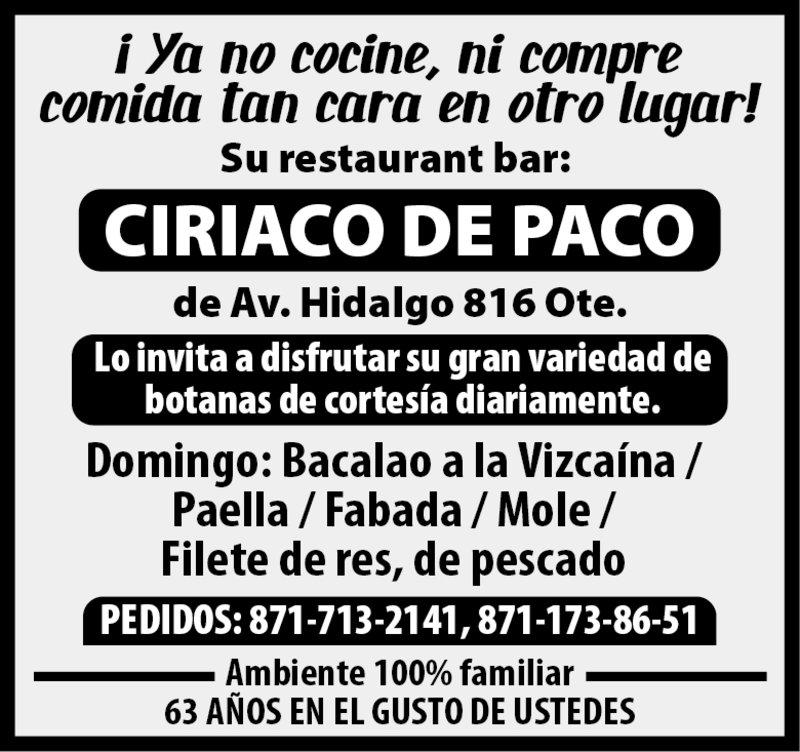 CIRIACO PACO