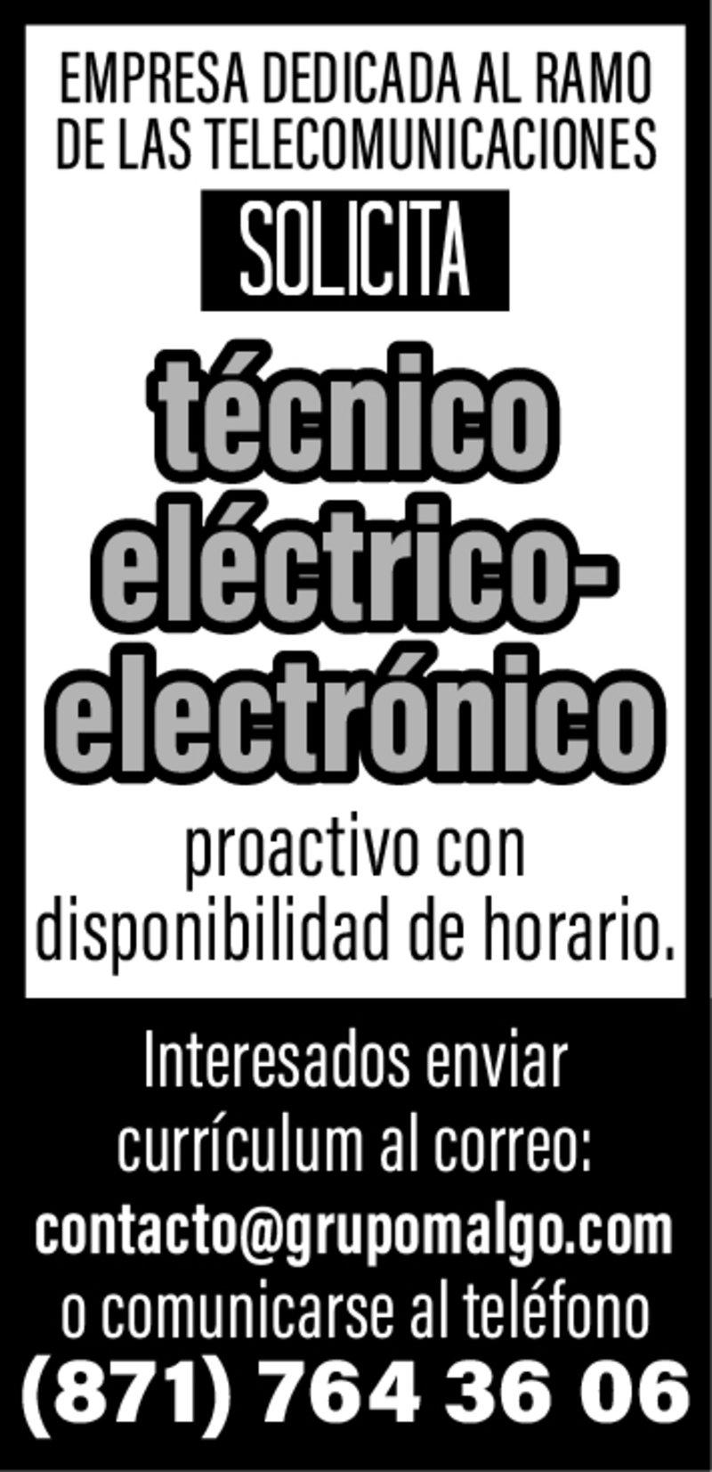 SE. solicita Técnico