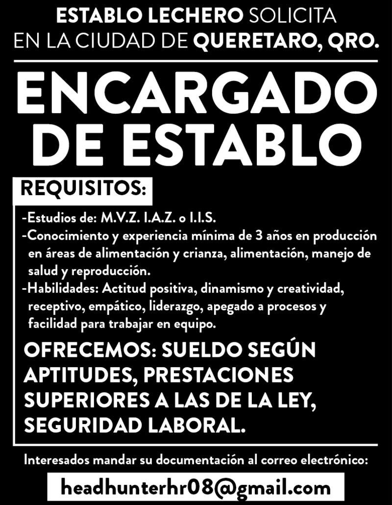 ENCARGADO DE ESTABLO