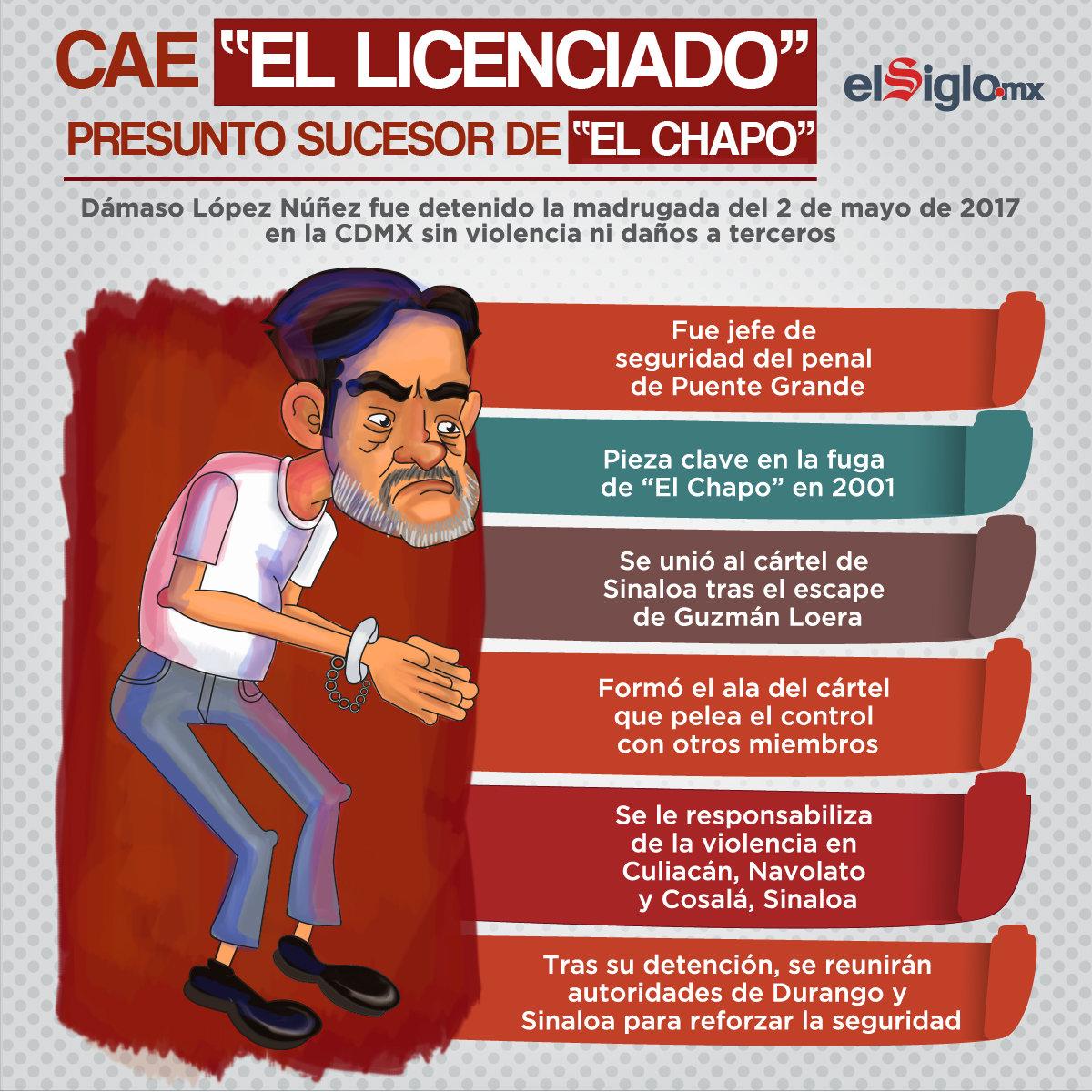 Cae 'El Licenciado', presunto sucesor de 'El Chapo'