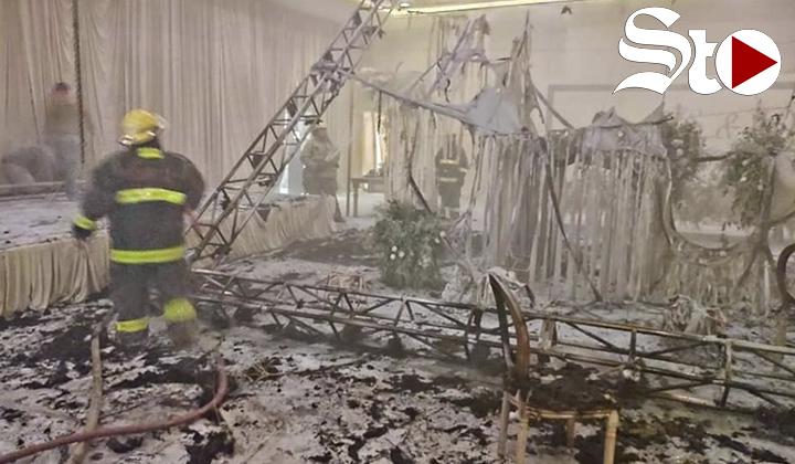 ¡Se acabó la fiesta! boda termina en incendio en Torreón