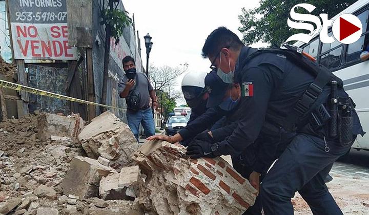 Sismo de magnitud 7,1 en el centro y sur de México