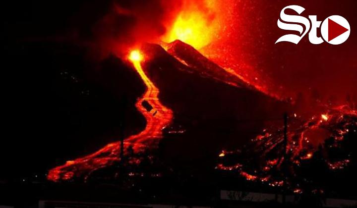 Emerge una nueva boca eruptiva en Tacande (La Palma)
