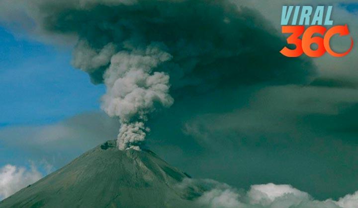 Captan estremecedor grito desde 'interior' del Popocatépetl