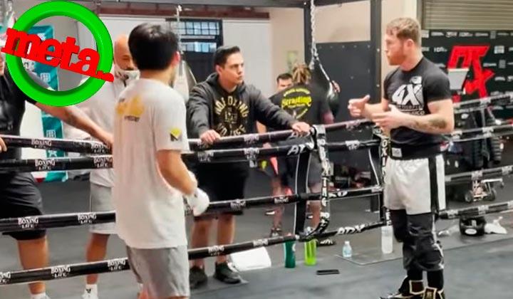 'Canelo' Álvarez prepara al hijo de Manny Pacquiao para boxear