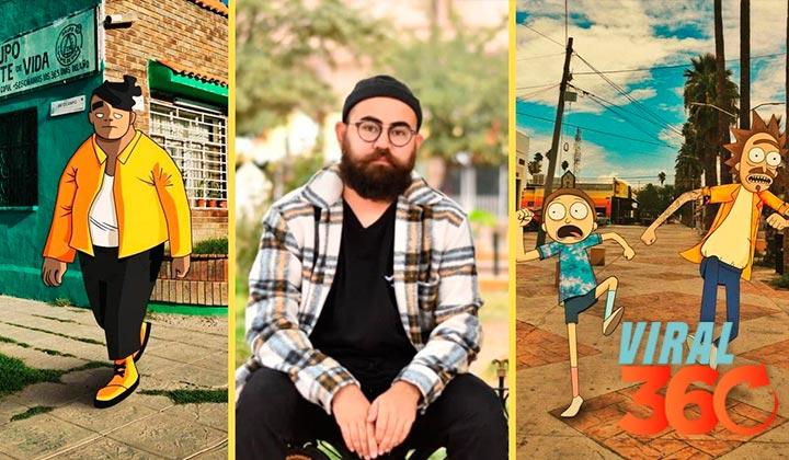 Artista lagunero brilla por fusionar personajes con Torreón