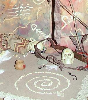 El centro de las artes ICOCULT Laguna, monto diversos altares de muerto.