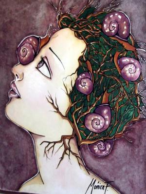 Ella se basa en la belleza de nuestra madre naturaleza, sus colores y sus formas representadas en frutas y ramajes