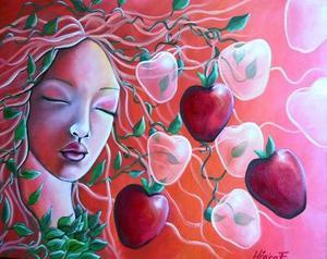 La artista es originaria de Torreón, Coah., y realizó estudios de artes plásticas en distintas academias, tanto dentro como fuera del país