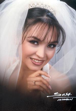 Srita. Adriana Lizette Arroyo Hernández el día de su enlace matrimonial con el Sr. José Fernando Chew Gómez Llanos