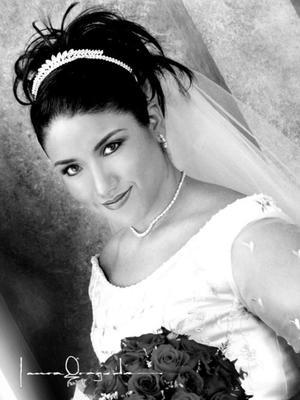 Ing. Lucía López Barbalena el día de su enlace matrimonial con el M.V.Z Carlos Barretero Castro