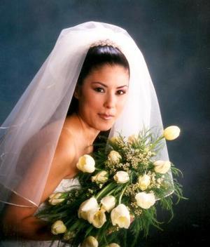 Srita.Bertha Galindo Herrera el día de su enlace nupcial con Ing. Héctor Serrano Acosta