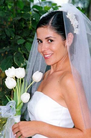 Lic. Marcela Galindo Herrera el día de su enlace nupcial con el L.A.E Antonio de la Mora Eisenring