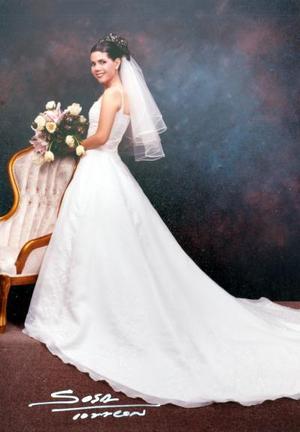 Lic. Elena Eppen González el día de su enlace matrimonial con Ing. Jesús Orduña Muñoz
