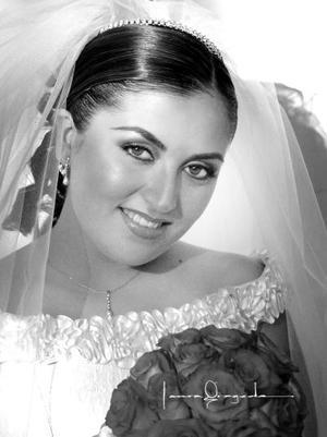 Ing. Alejandra Mogollón Reyes el día de su enlace matrimonial con Ing. Dante Nomar de Aguinaga y Salazar