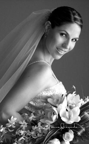 Srita. Luisa Fernanda Méndez Batarse el día de su enlace matrimonial con el Sr. Federico Javier Montoya Valdés