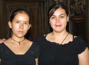 Melisa Lárraga Valenzuela y Ángeles Ortiz Jáuregui captadas en días pasados.