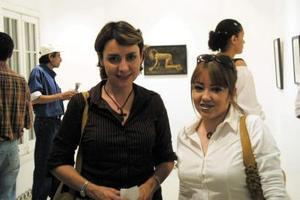 Olalla Romo Ramírez y Cladia Hiriart del Bosque.