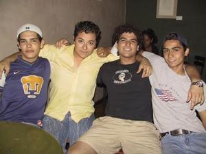 Yahairo, Yobani, Florencio y Rodolfo..