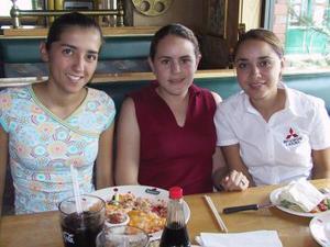 Daniela Garibay, Brenda Braille y Tuty Valles.
