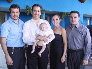 Diego Alberto, Alberto Marcos  y Farah de Marcos, Aejandro Galván y Jorge Marcos.