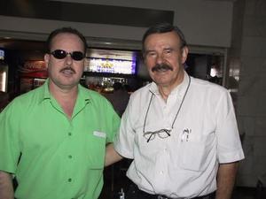 Isaac Pelayo t Gerardo Franco regresaron a la capital del país, luego de asistir a un compromiso social.