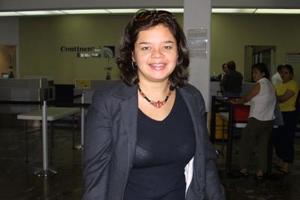 Victoria Morales regreso al DF luego de tratar asuntos de trabajo en la Comarca Lagunera.