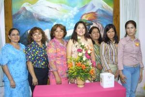 Minka Rodríguez, Josefa Lavenant, Lily de Medina, Alma Rosa Medina, Teresa Villalobos, Nereida Ramírez y Vanesa Martínez.