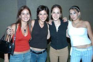 Mariana Peña, Estela Alatorre, Mónica Peressini y Ana Criz Jiménez en pasado convivio social.