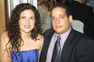 Cynthia Romero y Persip Grullón.